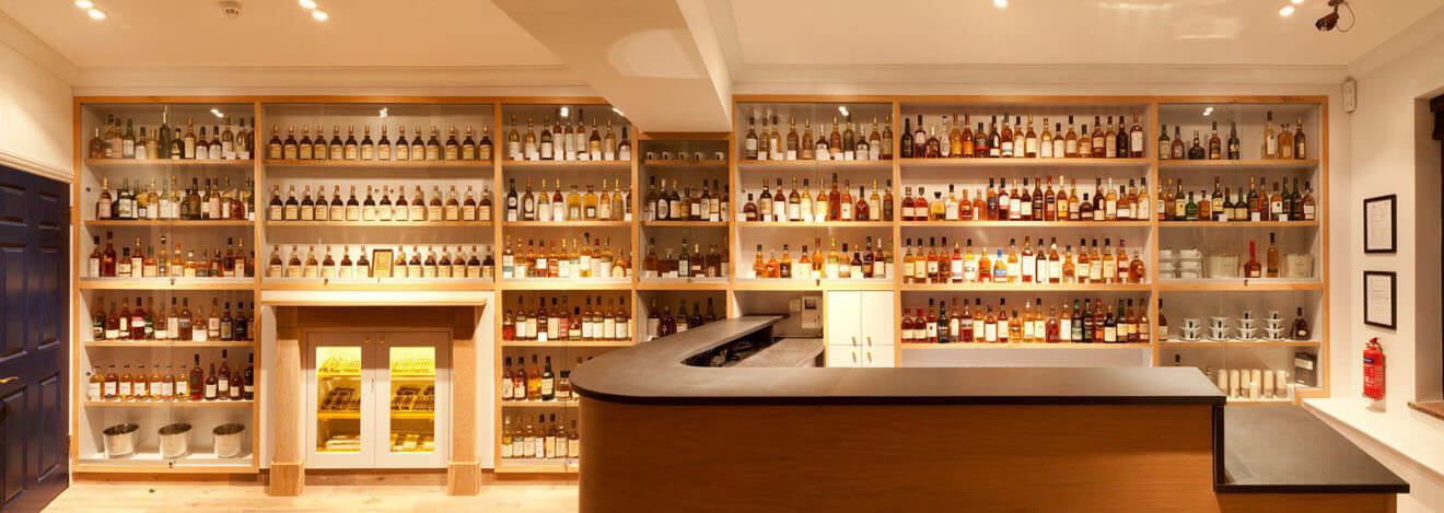 Soho Whisky Club Whisky Display Full VIew