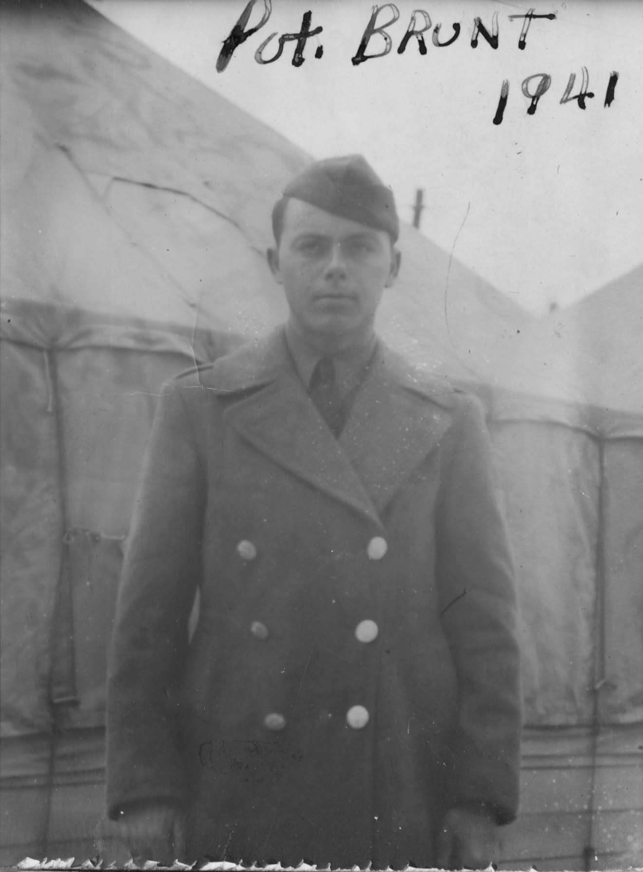 Sam Brunt at Camp Shelby in 1941