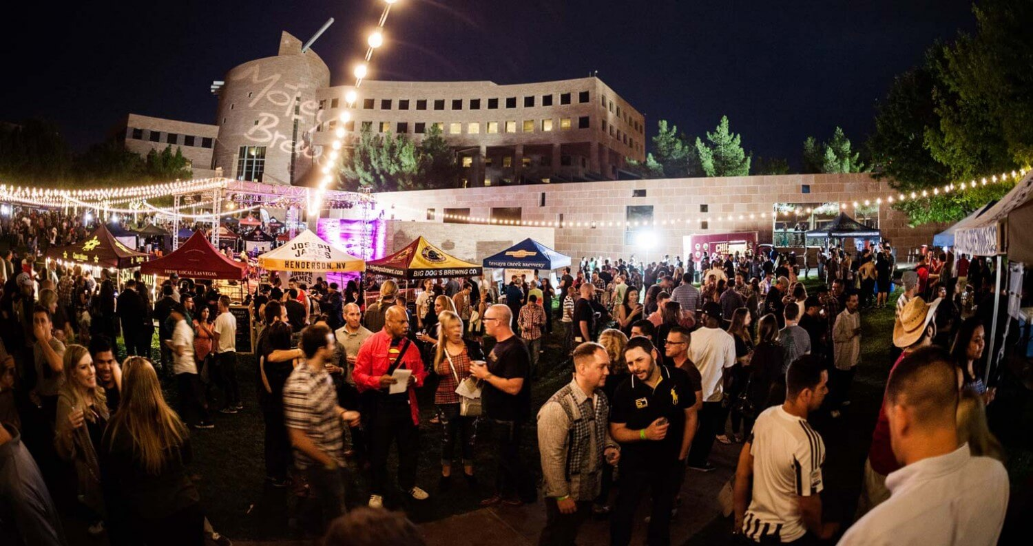 Motley Brews' 4th Annual Downtown Brew Festival in Las Vegas Lights Up the Night, crowd
