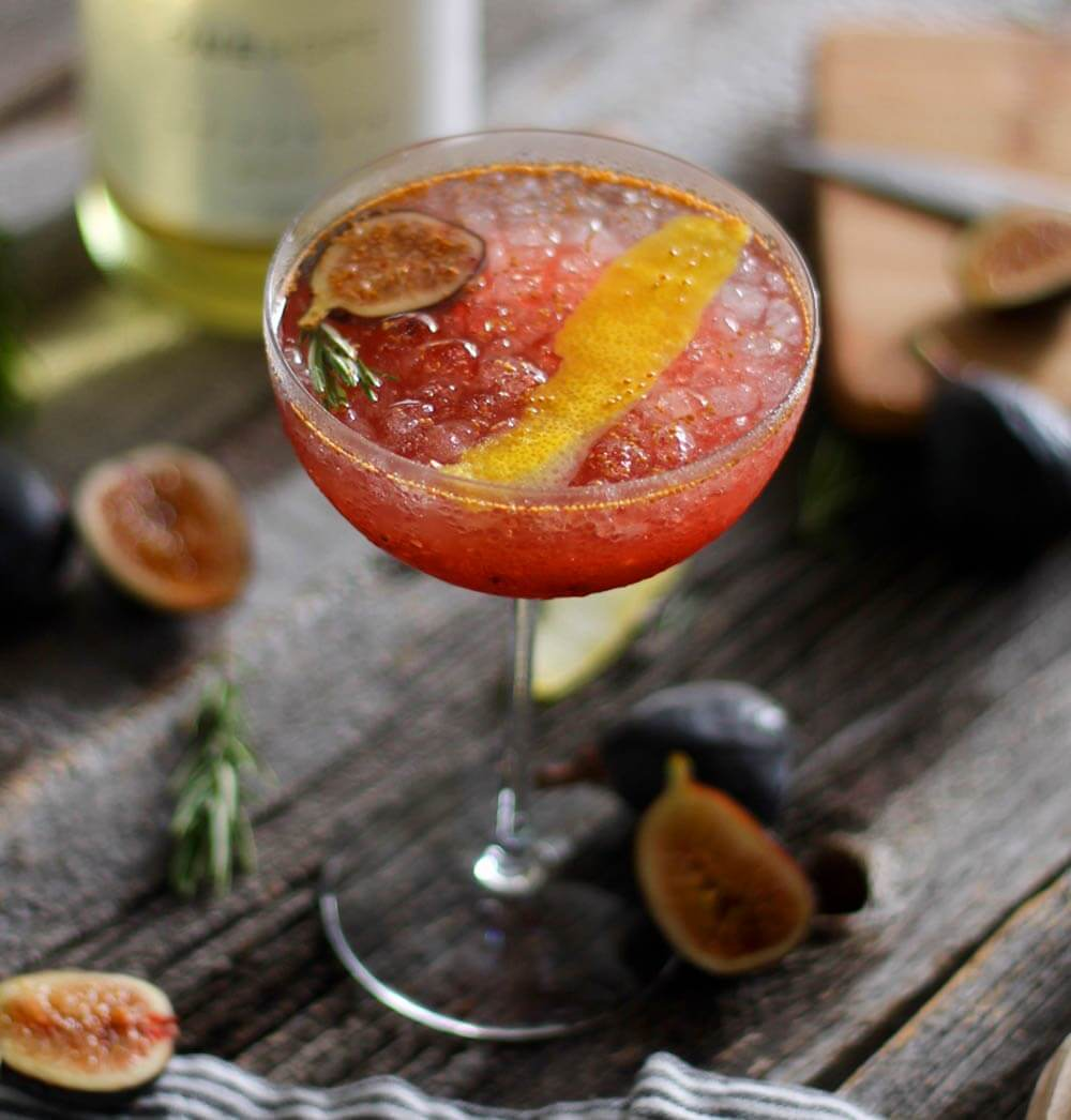 Fig Rosemary Sparkling Cocktail