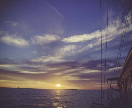 Bulldog Modern Gin & Tonic Competition Recap, sunset from boat
