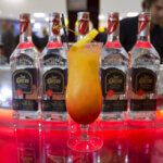 Jose Cuervo Especial Unveils Rolling Stones Tour Plane Pop-Up at JFK's Terminal 4, bottles and cocktail