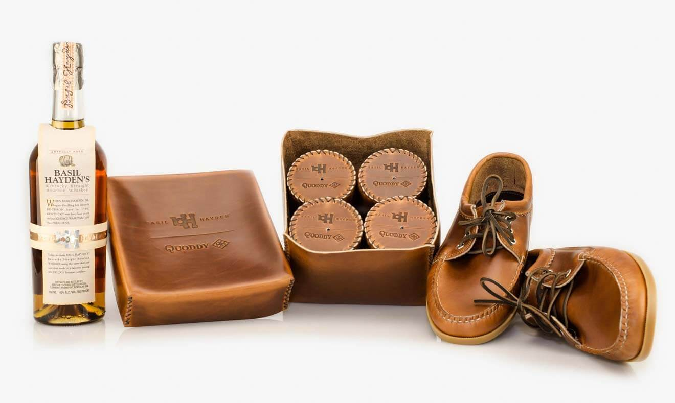 "Basil Hayden Bourbon and Quoddy ""Drinking Shoes"" Limited Edition Set"