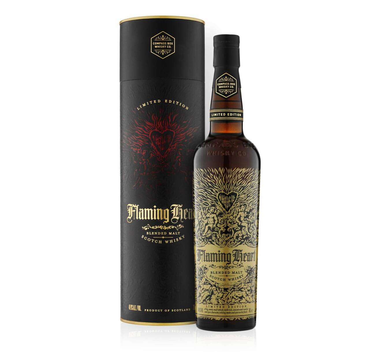 Compass Box Flaming Heart Whiskey, Fifteenth Anniversary Limited Edition