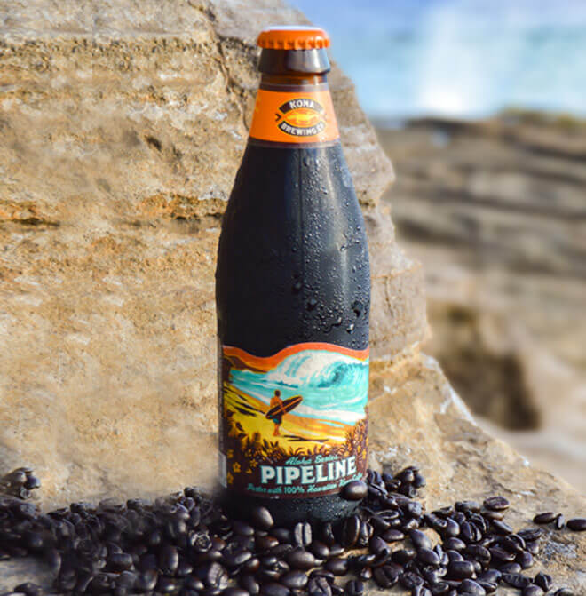 Kona Brewing Pipeline Porter with 100% Kona Coffee Now Available