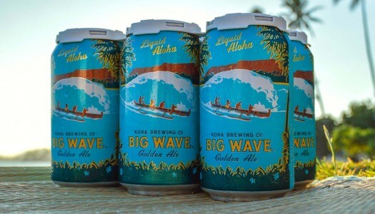 Kona Brewing Big Wave Golden Ale and Longboard Island Lager Now Available in 12 oz. Cans