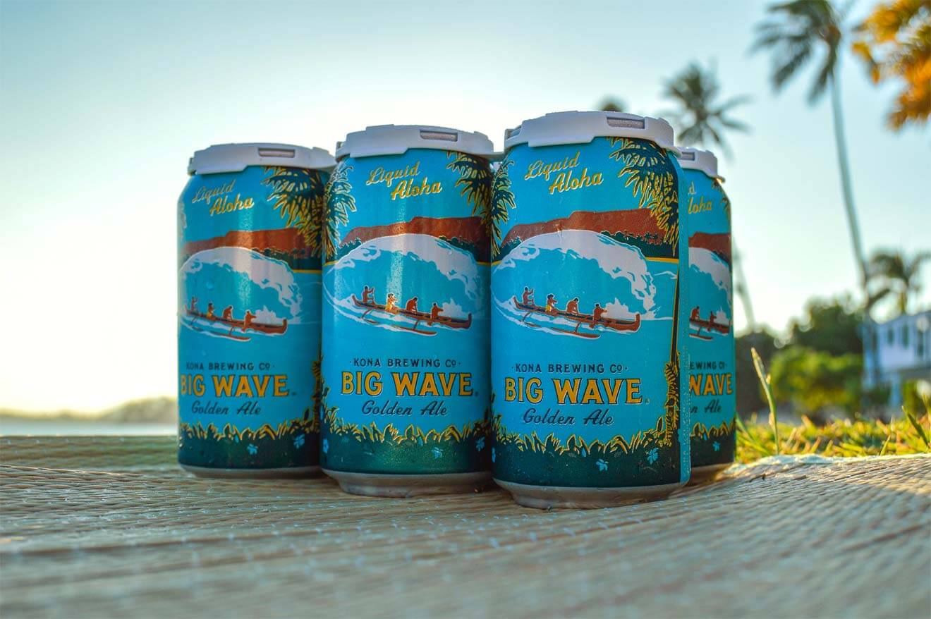 Kona Brewing Big Wave Golden Ale 12 oz. Cans