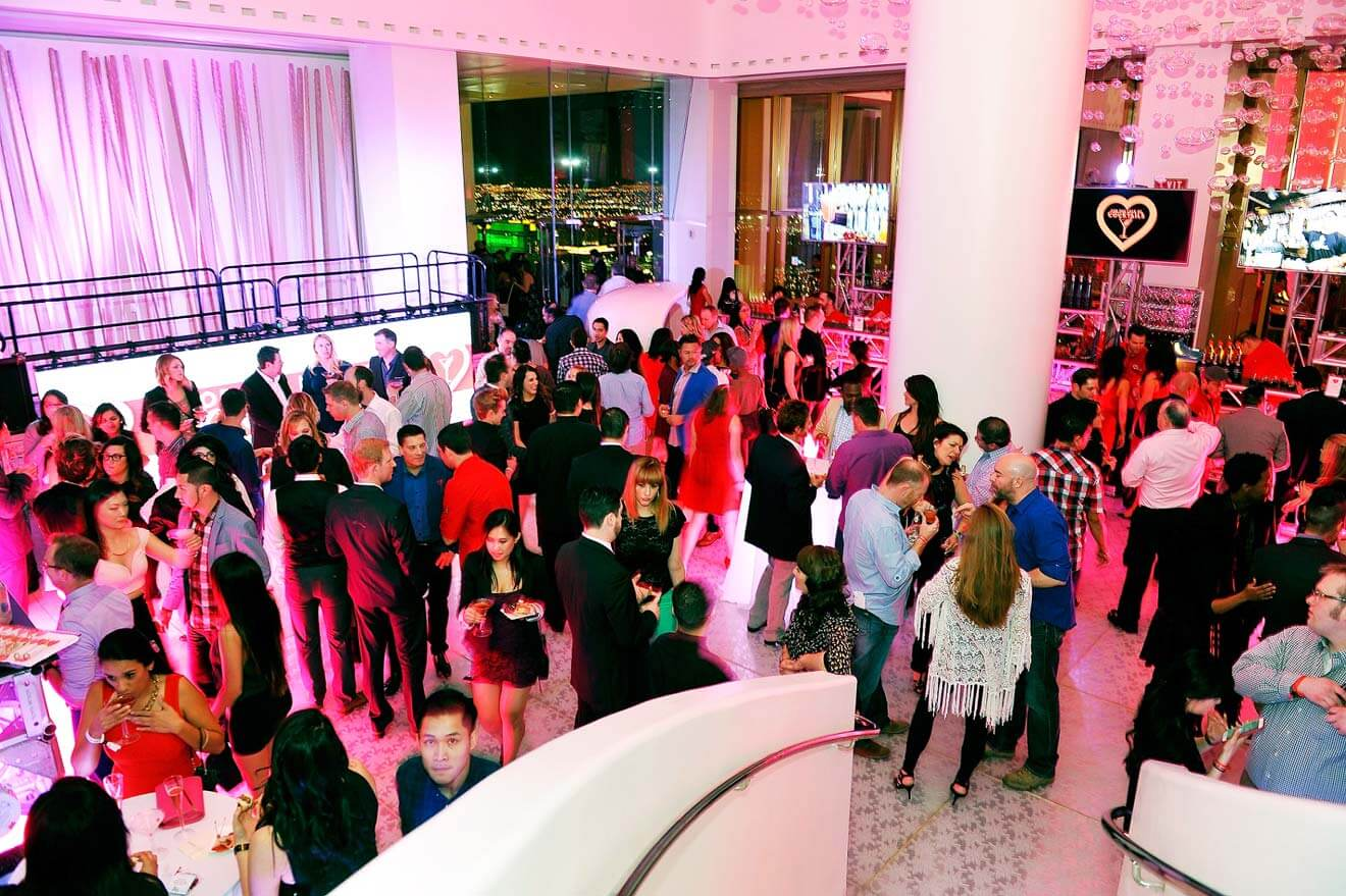 "Guests Enjoying the 2015 ""For The Love Of Cocktails"" Grand Gala"