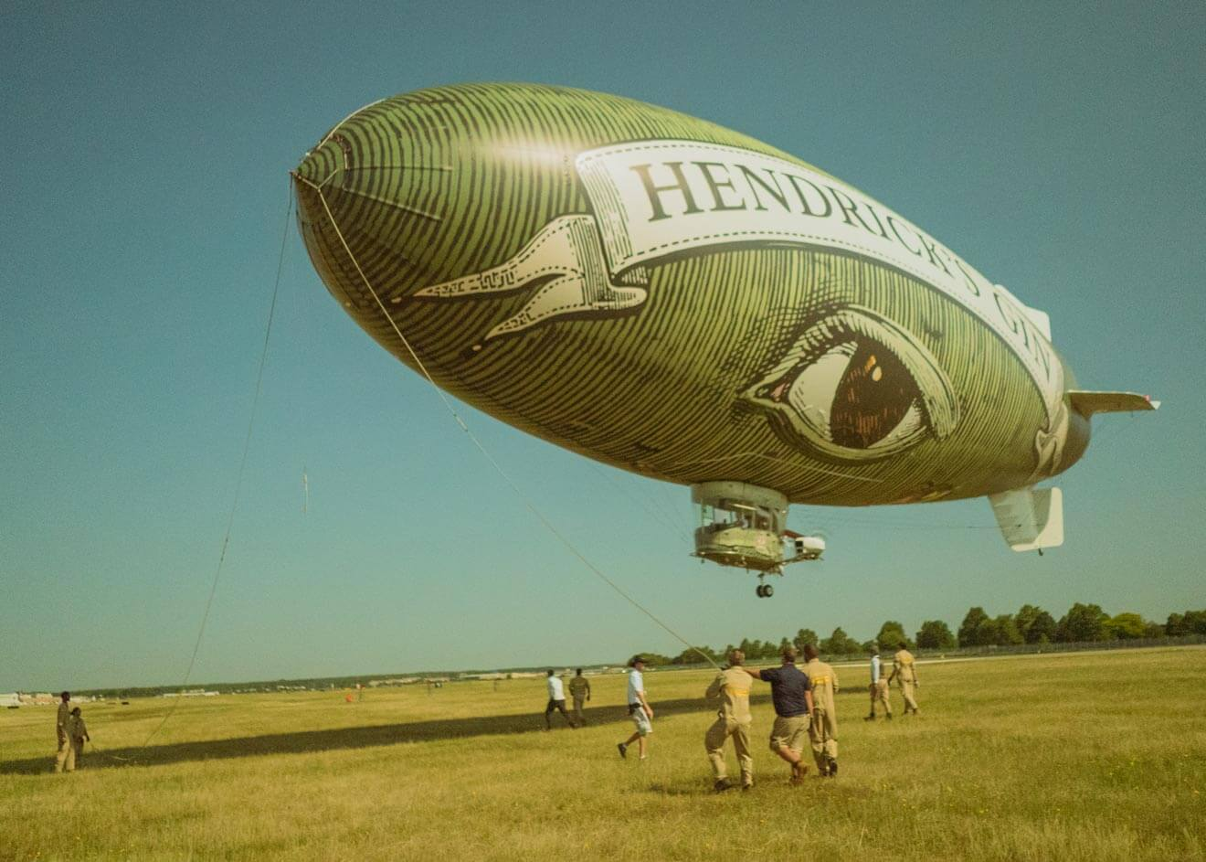 Hendrick's Gin Flying Cucumber Airship. industry news