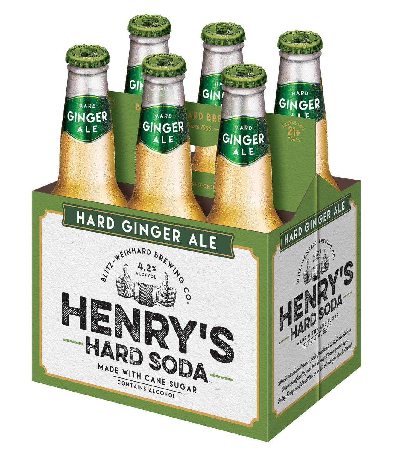 Henry's Hard Soda Ginger Ale 6pk from MillerCoors