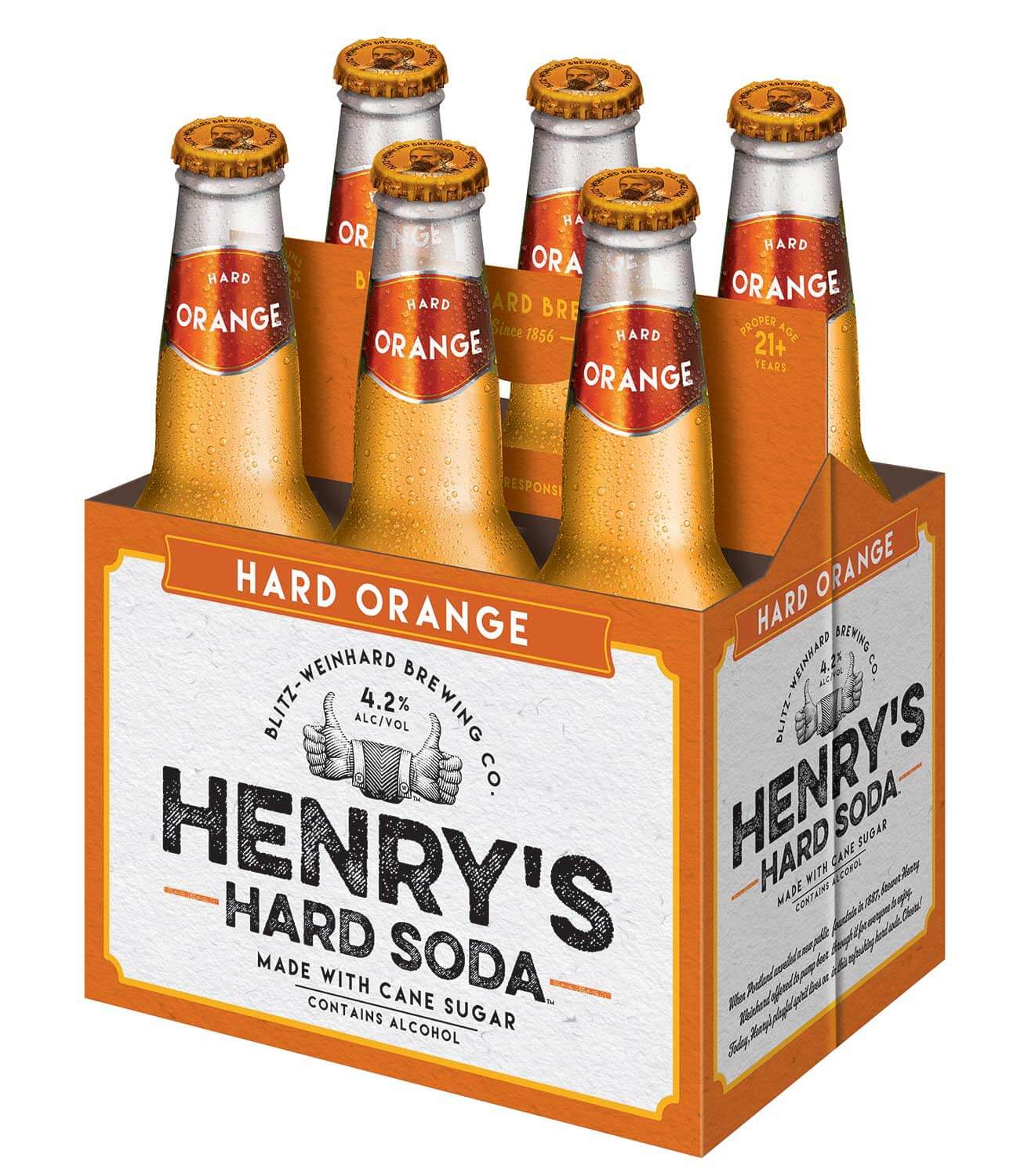 Henry's Hard Soda Orange 6pk from MillerCoors