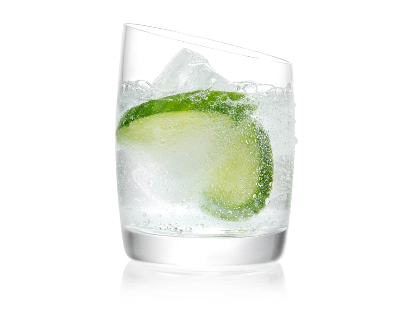 SVEDKA Q Cumber cocktail made with SVEDKA Cucumber Lime, featured brands
