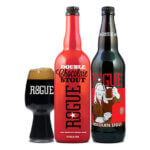 Celebrate Valentine's Day with Rogue Chocolate Stout and Double Chocolate Stout, bottle display beer news