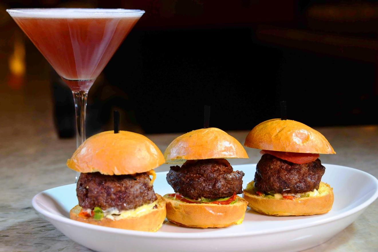 Dab-tini Cocktail Paired with Sliders