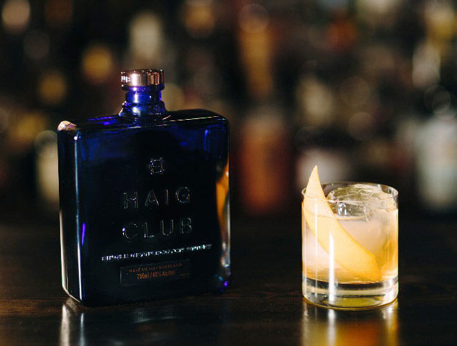 Demure Dashing cocktail with haig club whiskey