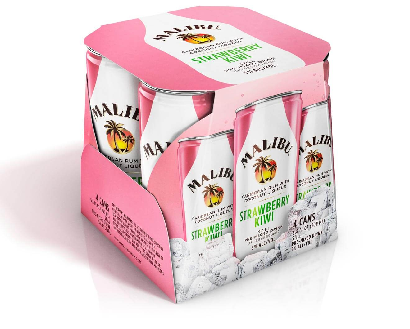 Strawberry Kiwi in a Can from Malibu 4pk, featured brands