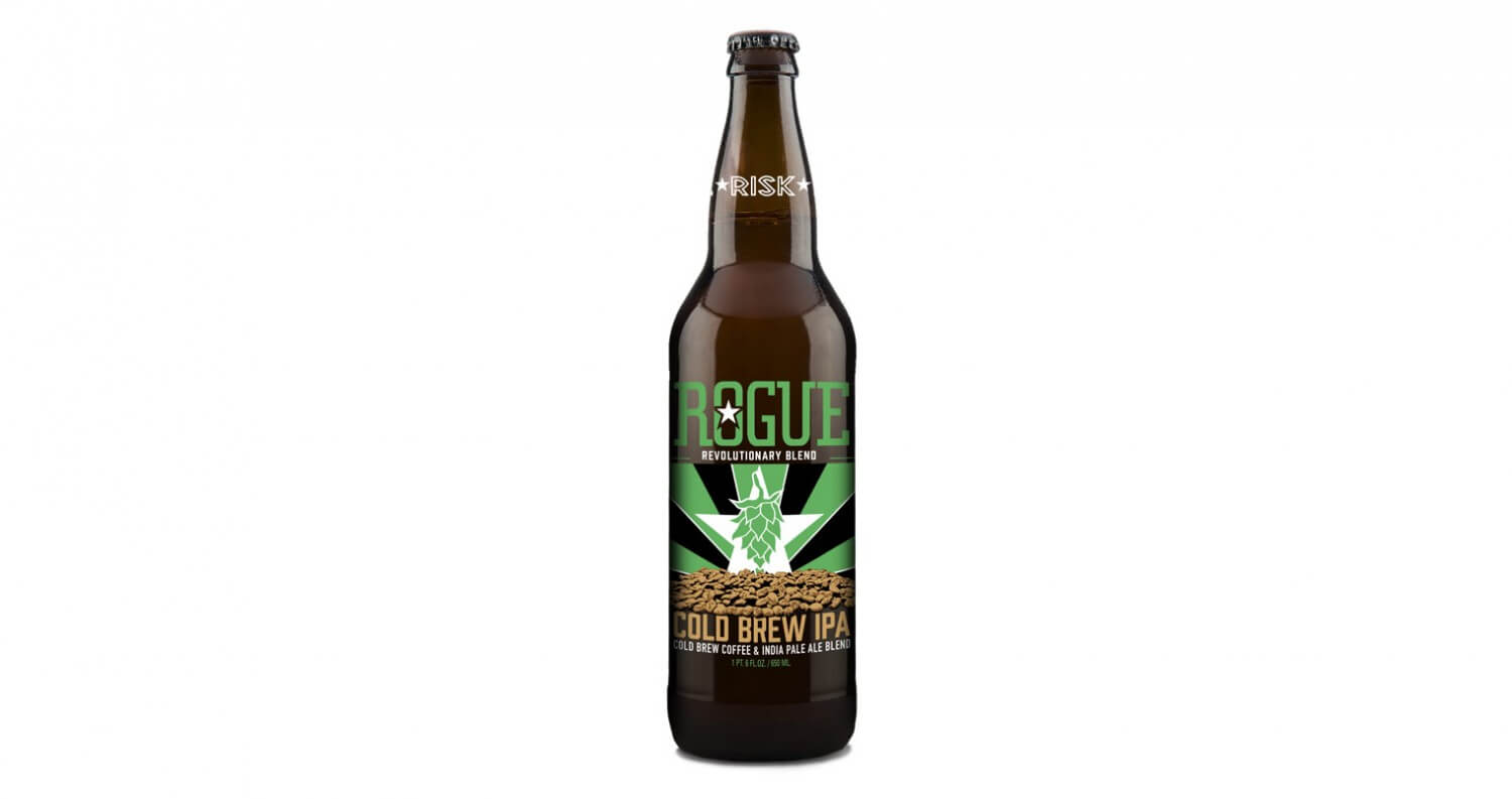 Rogue Ales Launches 'Cold Brew IPA' Coffee Beer, beer news, featured image