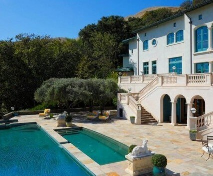 Robin Williams Estate Pool and Terrace View