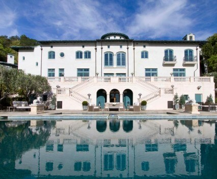 Robin Williams' Estate Rear View with Pool
