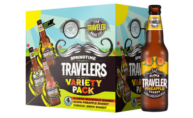 Springtime Variety Pack from the Traveler Beer Company, box and bottle, beer news
