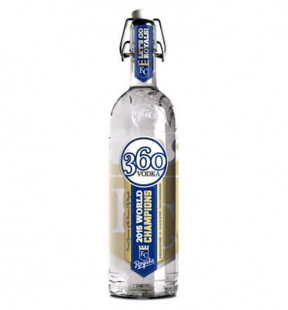 360 Vodka Produces Bottle to Celebrate Royals World Series Championship, featured brand, featured image