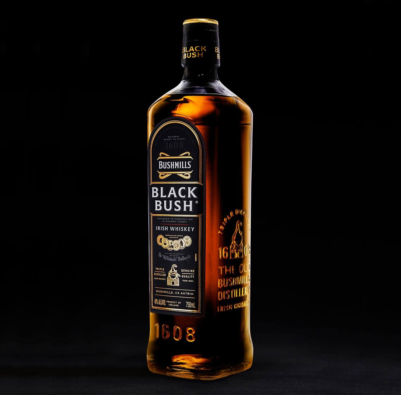 Black Bush Whiskey bottle shot, what's chilling right now