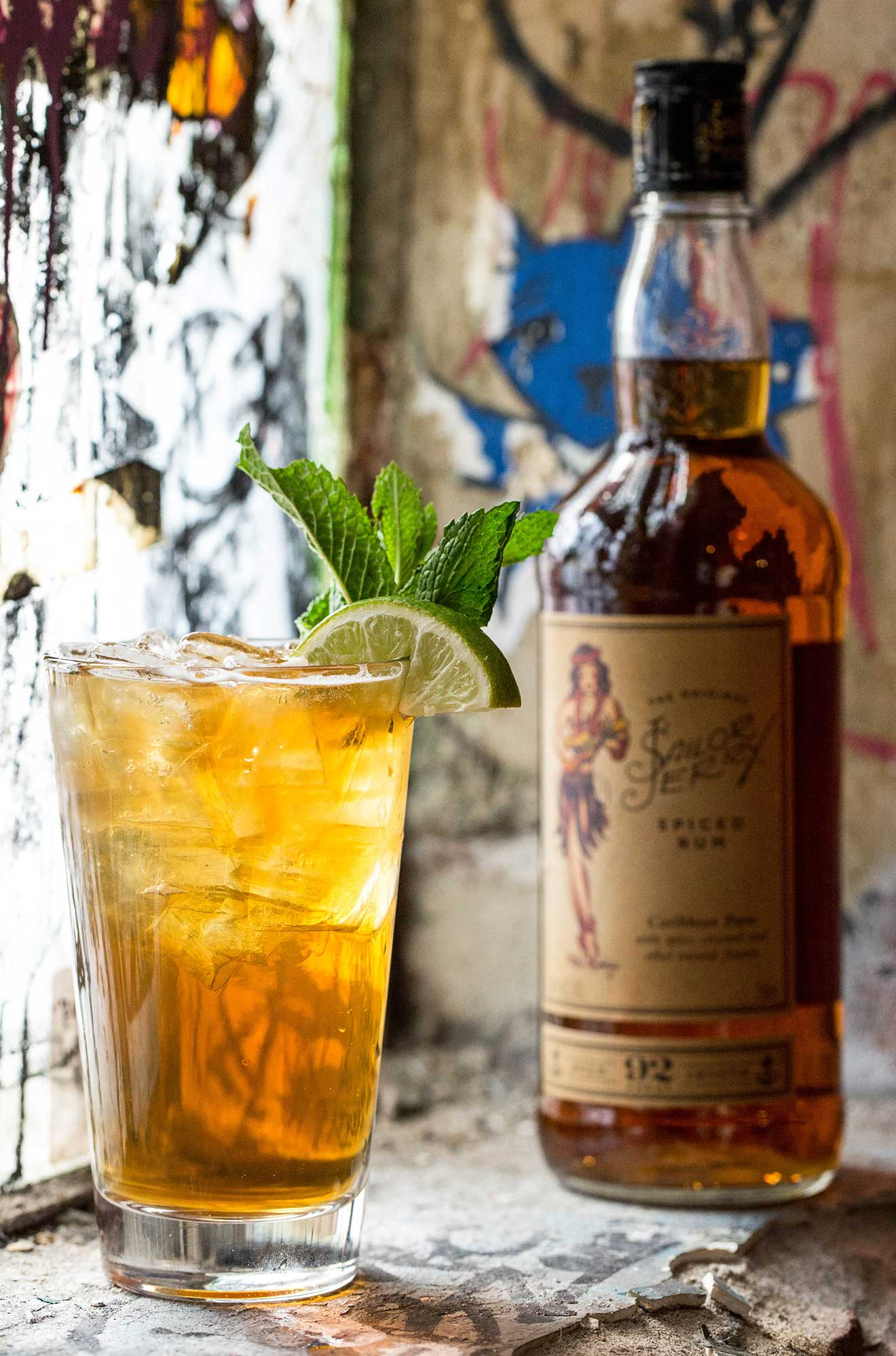 Throw Shade cocktail made with Sailor Jerry Rum