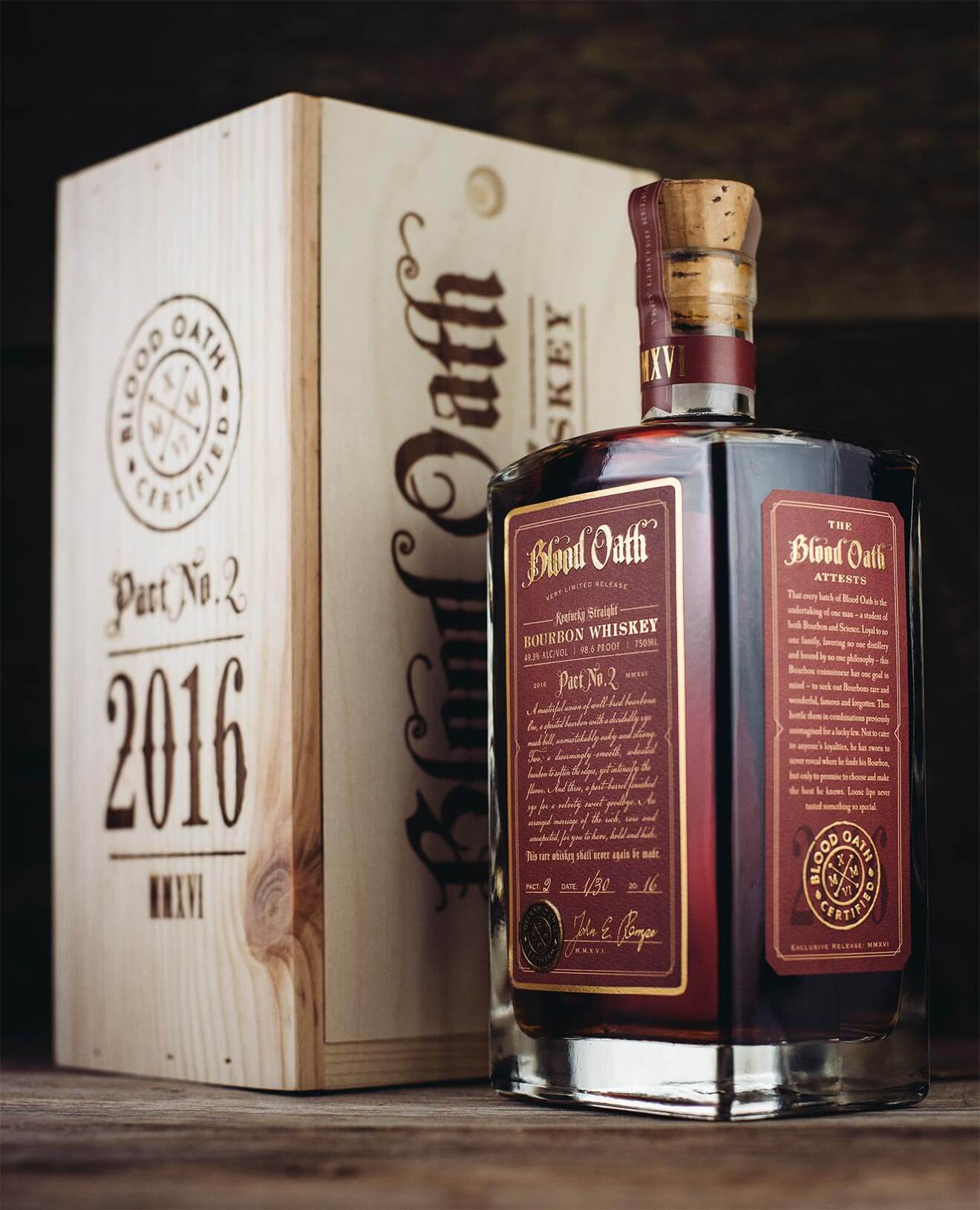 Blood Oath Pact No. 2, Bottle and Packaging, featured brands