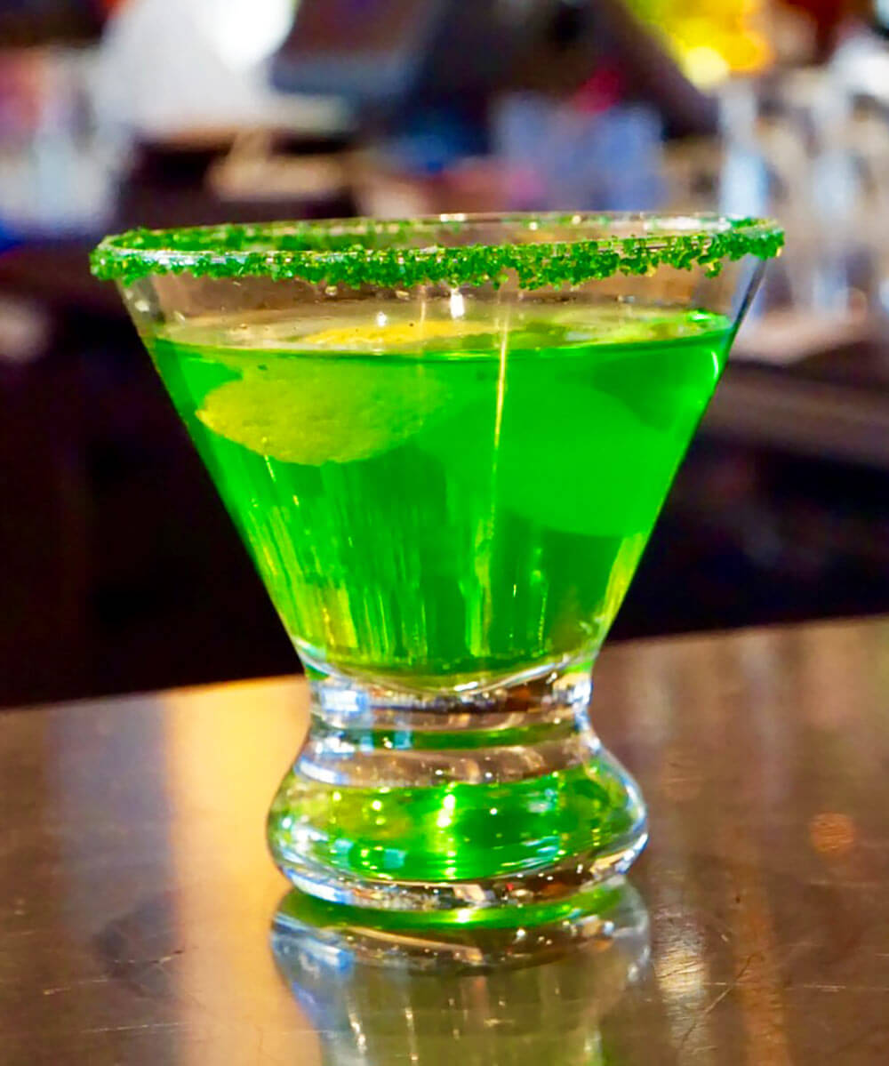 The Emerald Elixer cocktail from KTCHN, cocktail recipes, st. patrick's day cocktails