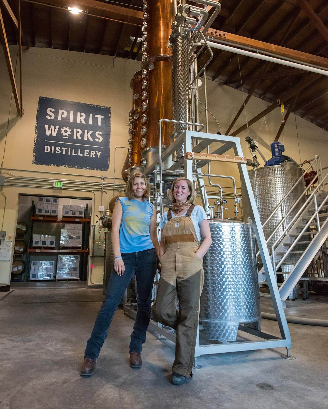 Spirit Works Distillery Sloe Gin Fizz, ashby and lauren of spirit works distillery, cocktail recipes