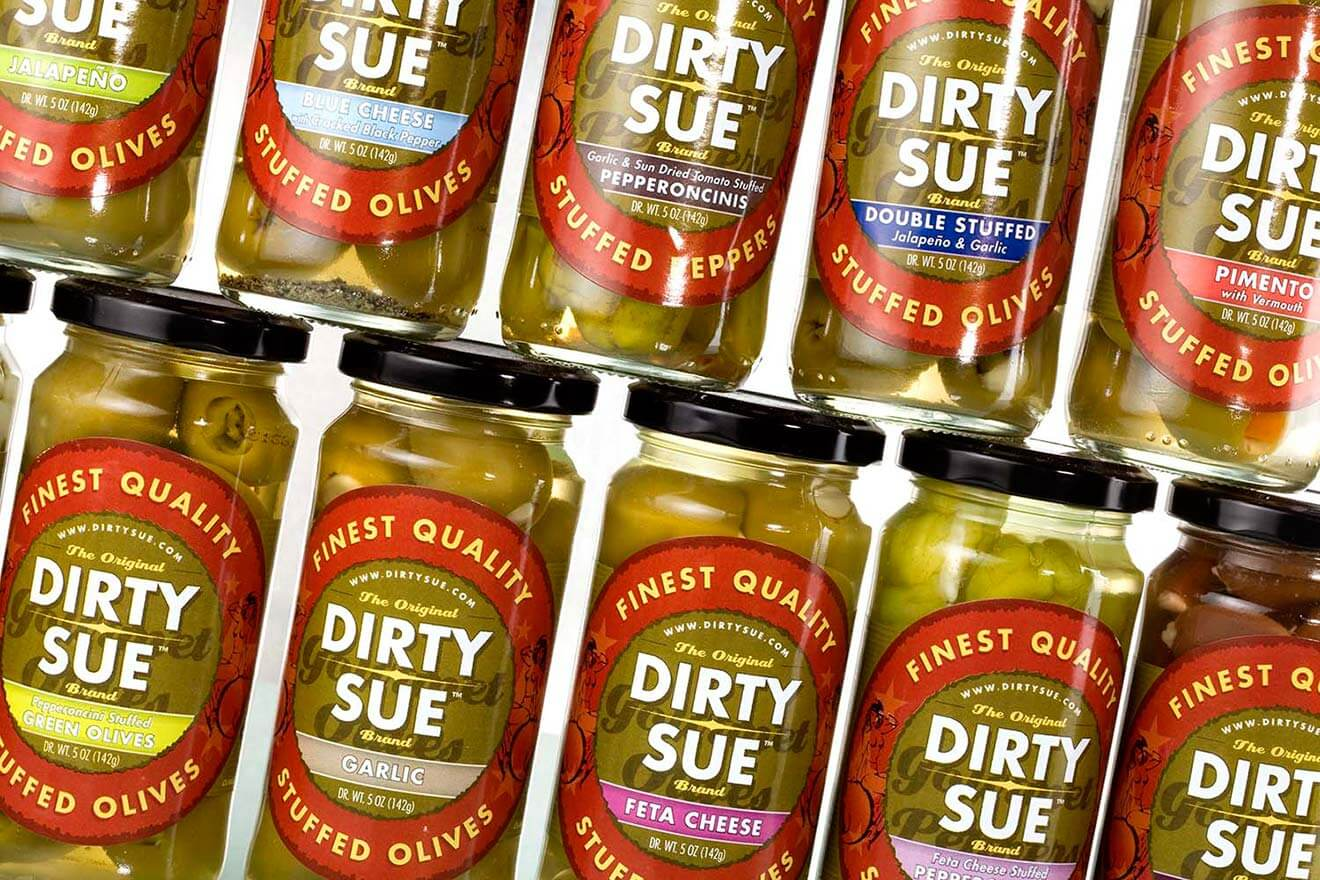 Dirty Sue Olive Juice jar varieties, what' chillin' right now