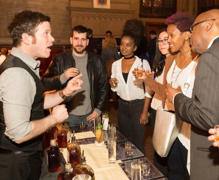Guests Tasting Component Whiskies with Ryan Ross
