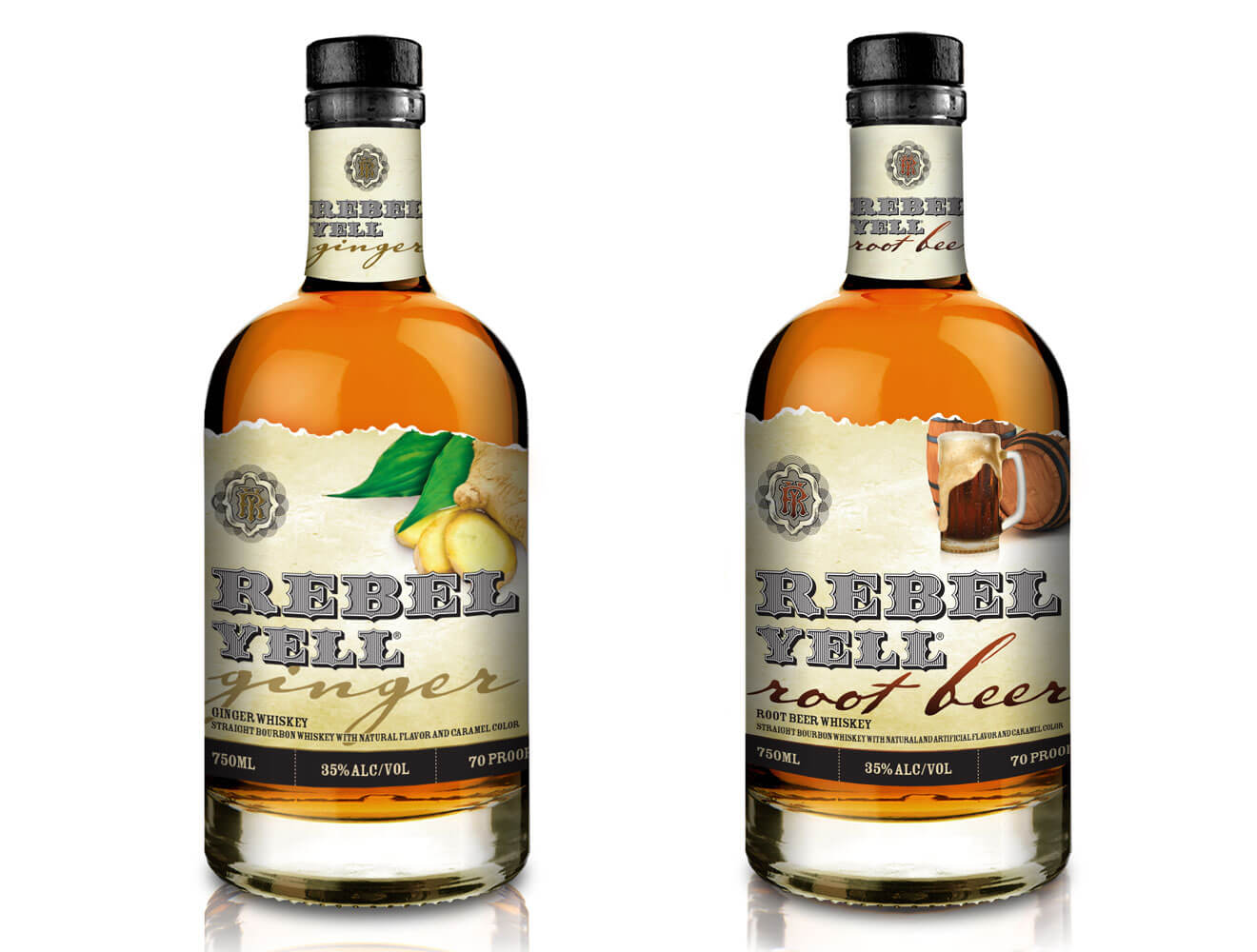 Rebel Yell Bourbon Introduces New Flavors, Ginger and Root Beer, featured brands