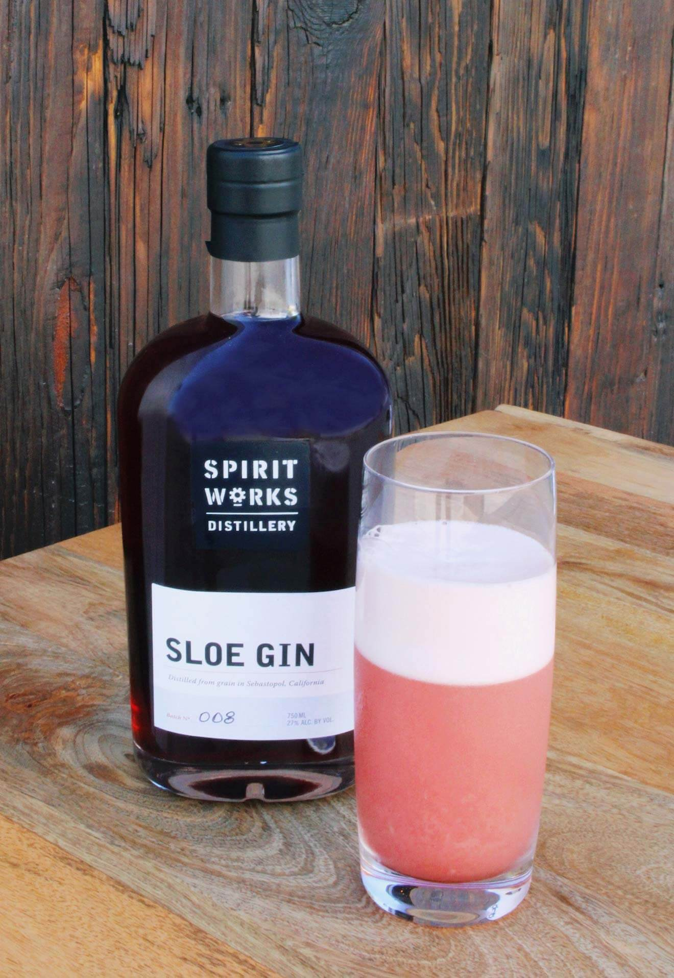 Spirit Works Distillery Sloe Gin Fizz, cocktail recipes