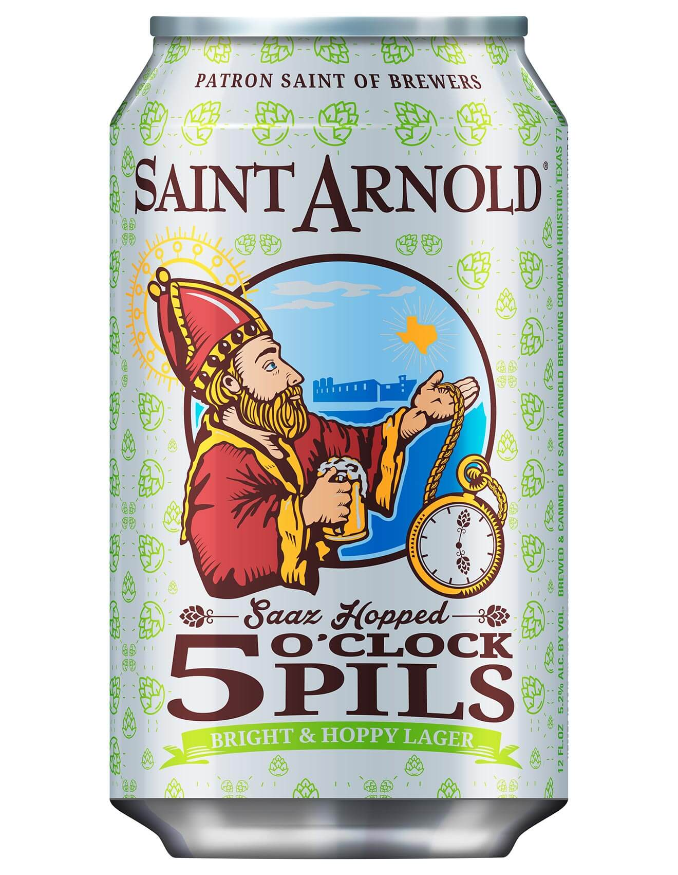Saint Arnold 5 O'Clock Pils in a Can, beer news