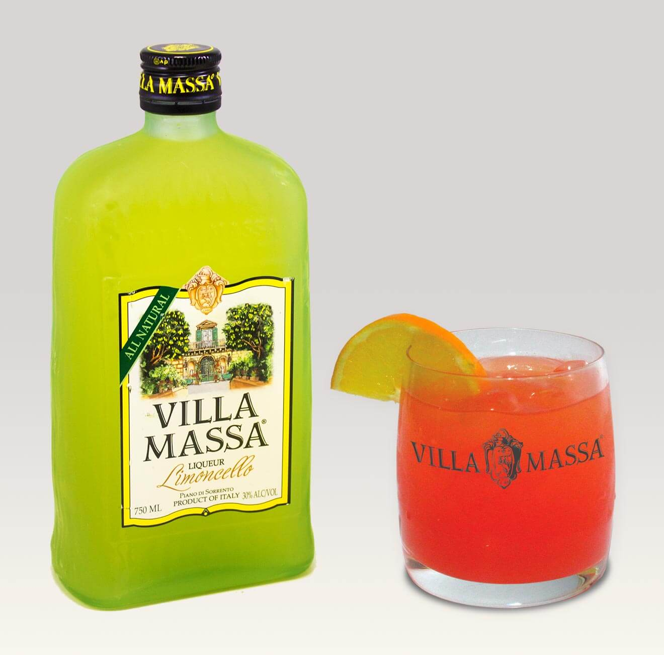 Villa Massa Sanguinella cocktail made with limoncello liqueur