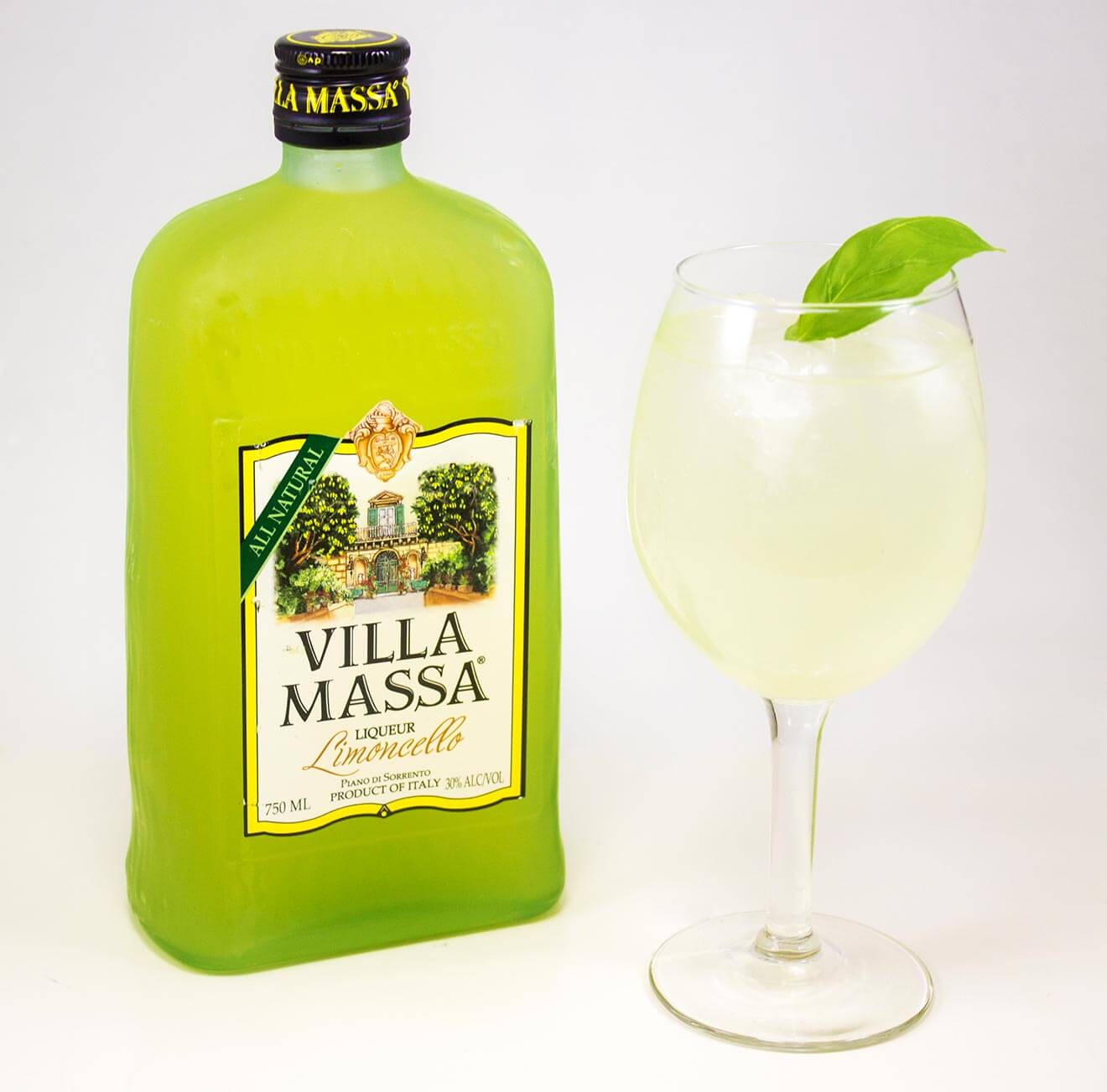 Villa Massa Tonica cocktail made with Limoncello liqueur