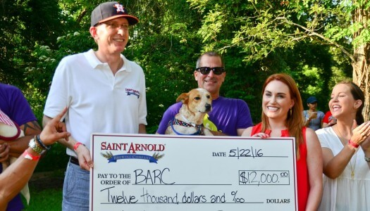Saint Arnold Ale Wagger Initiative Presents Donation to BARC Animal Shelter and Adoptions