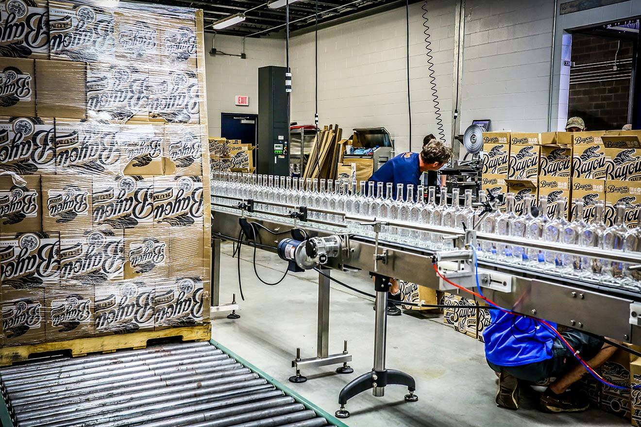 BayouRum packaging assembly line