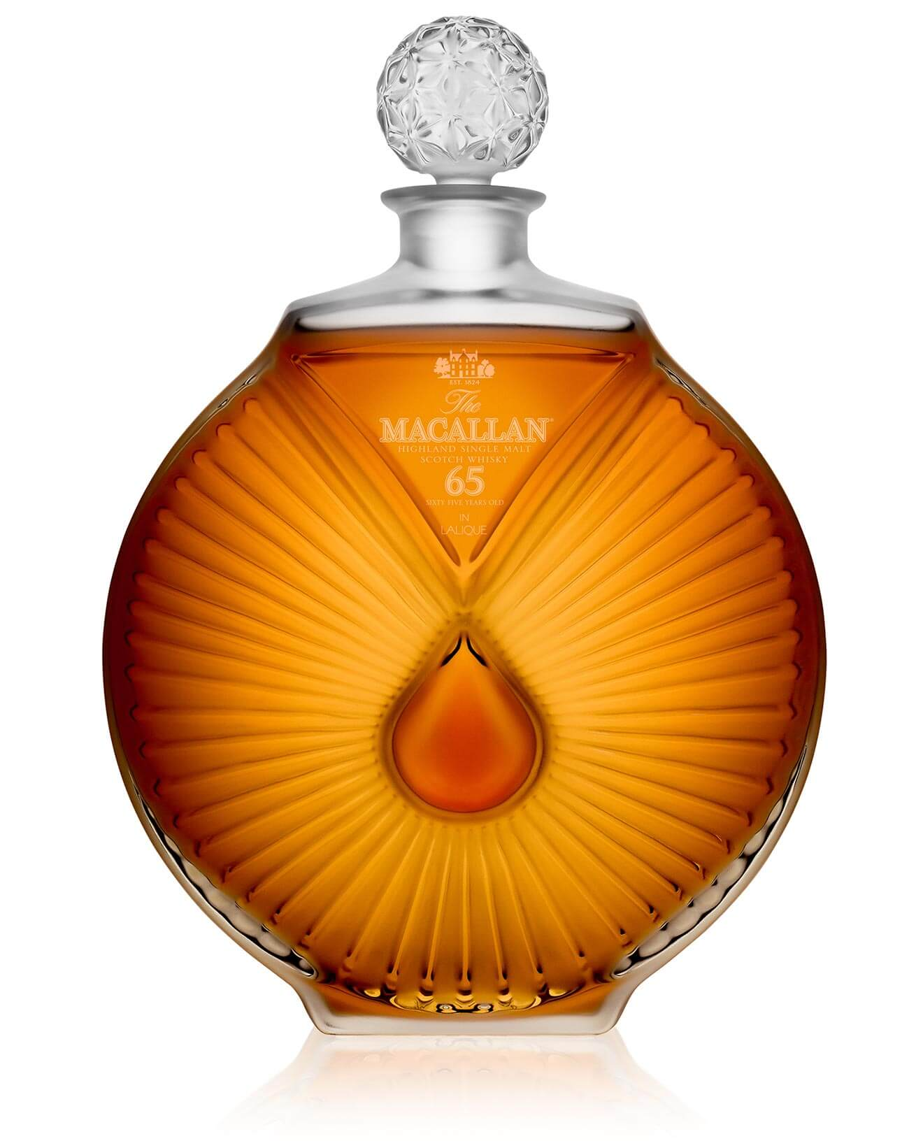 The Macallan 65 Years Old bottle