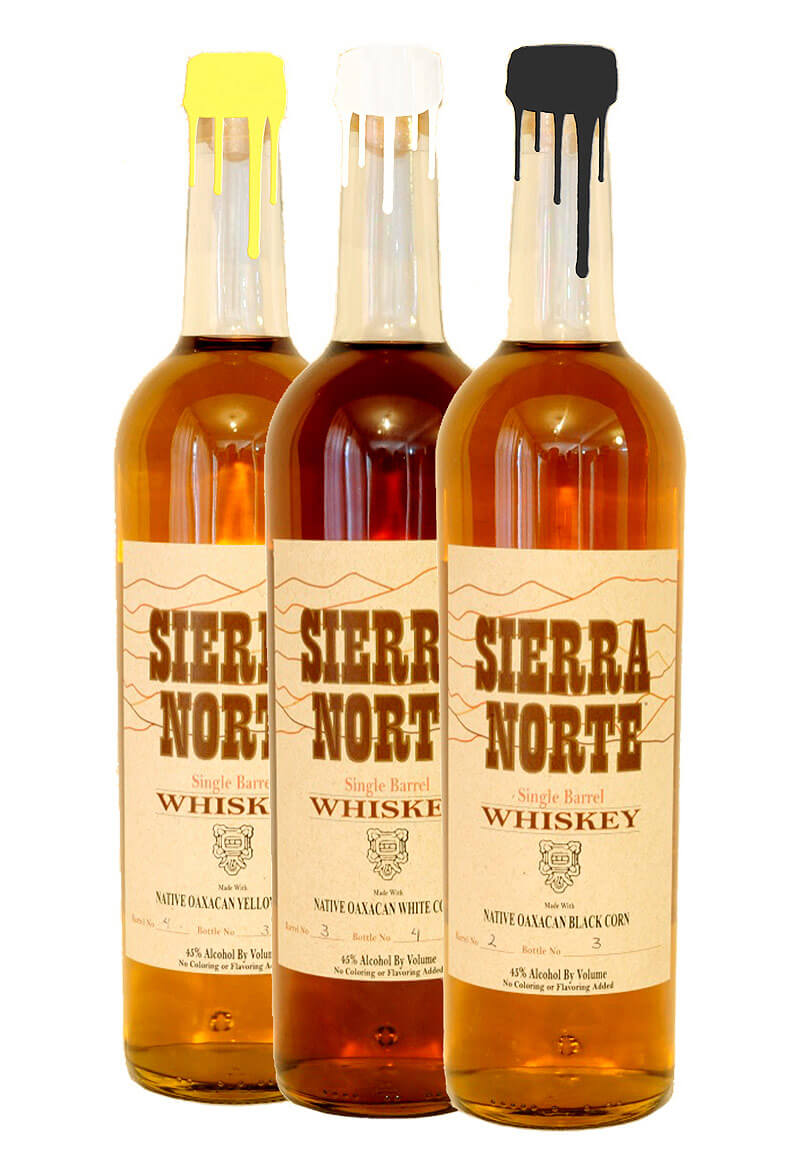 Sierra Norte Native Corn Whiskey bottles