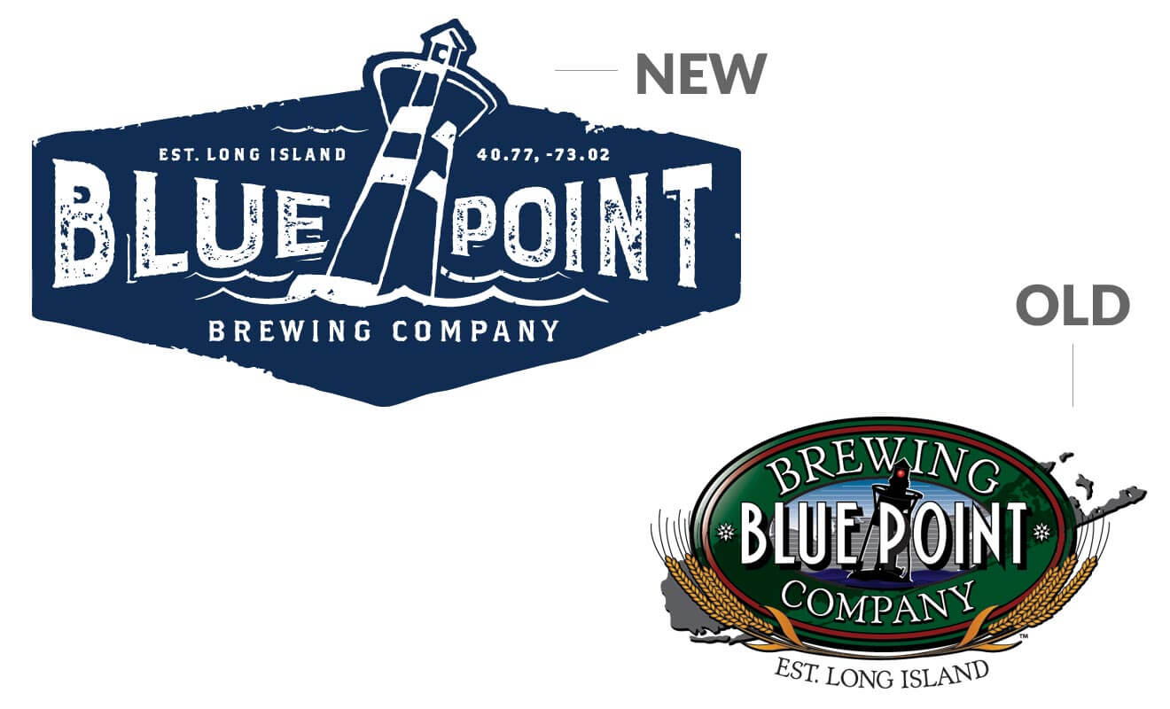 Blue Point Brewing Co. Logo Design, Old and New