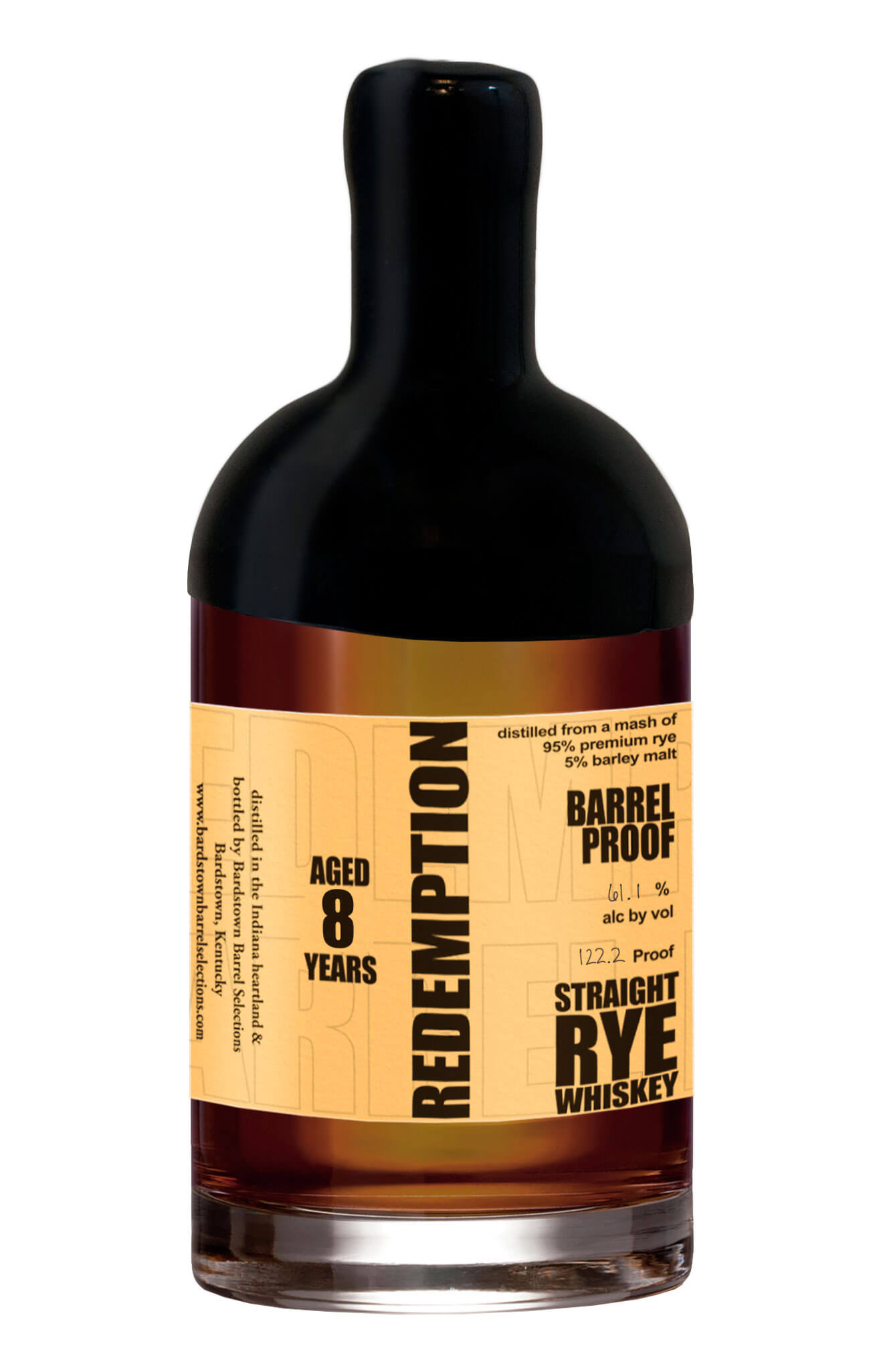 barrel proof rye whiskey 8yr