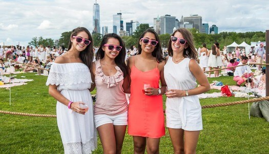 Rosé-Themed Picnic and Music Festival Blankets Governors Island