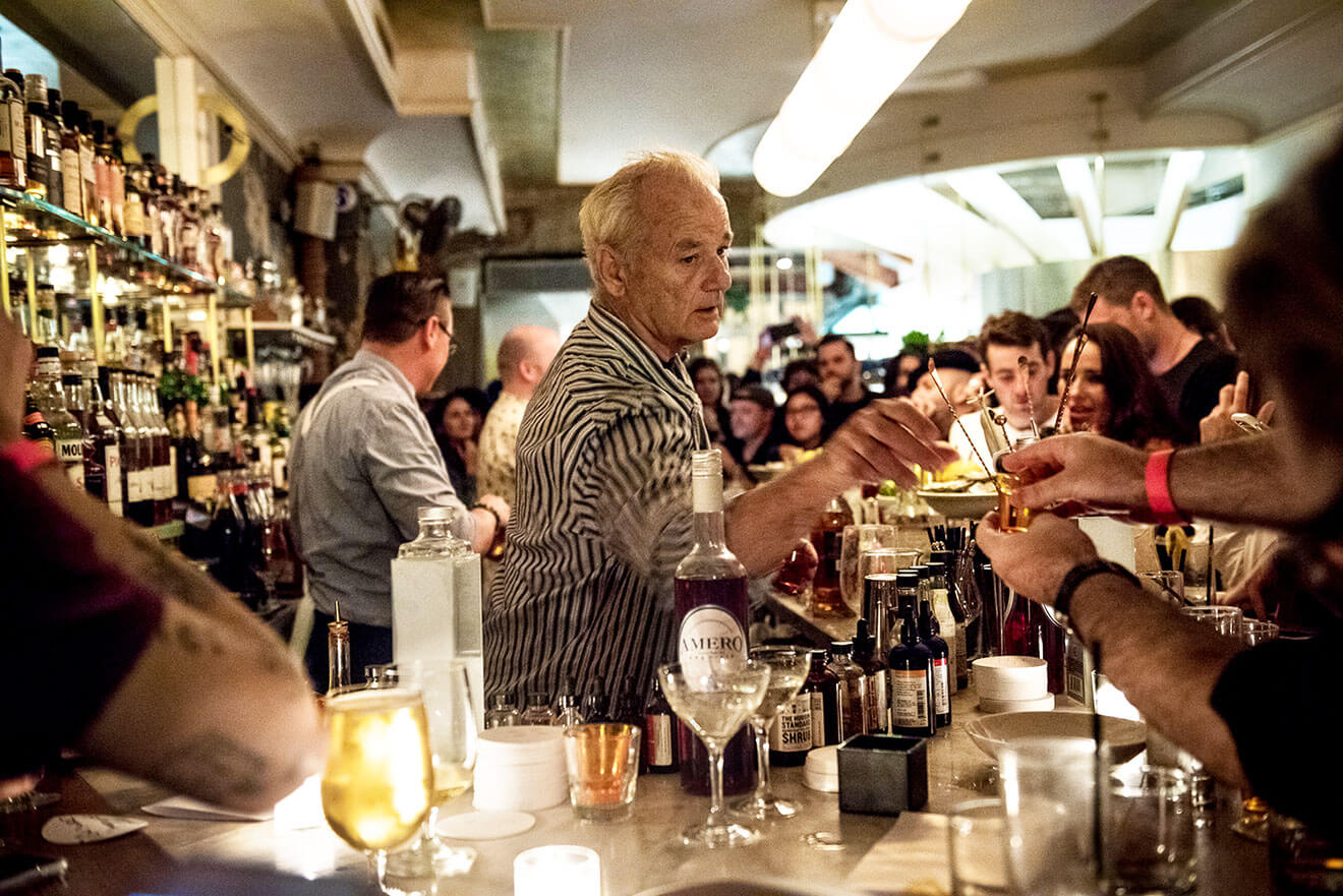 Bill Murray Serving Cocktails