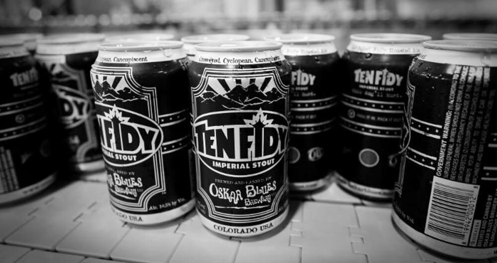 Ten Fidy Cans, Oskar Blues Brewery, featured image