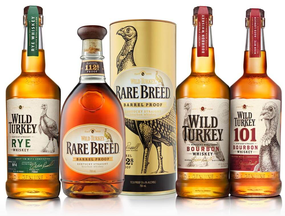 Wild Turkey New Packaging Family
