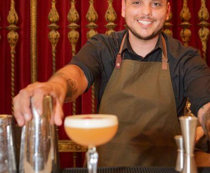 The Grand Prize Winner, Anthony Parks and his winning cocktail 'The Stowaway'