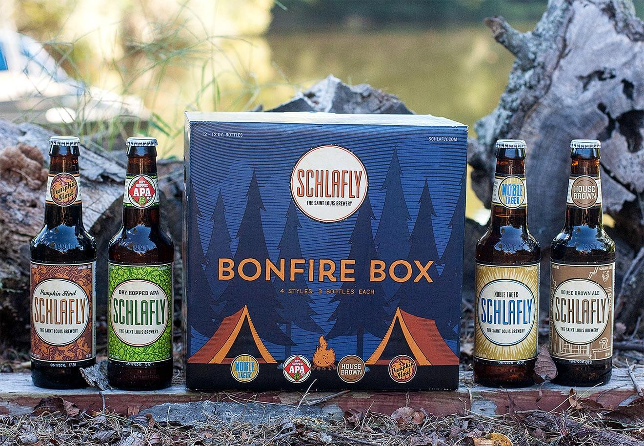 bonfire variety pack from schlafly brewing company