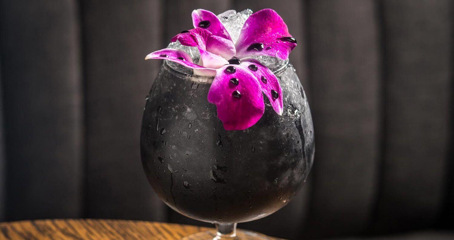 Activated Charcoal Halloween Cocktails, featured image